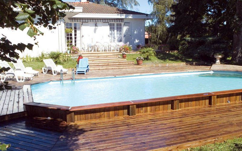 Best ideas about Semi Inground Pool With Deck . Save or Pin Ground Pools Decks Idea Now.