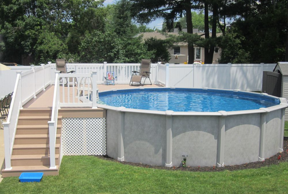 Best ideas about Semi Inground Pool With Deck . Save or Pin ground Pools — Brothers 3 Pools Now.