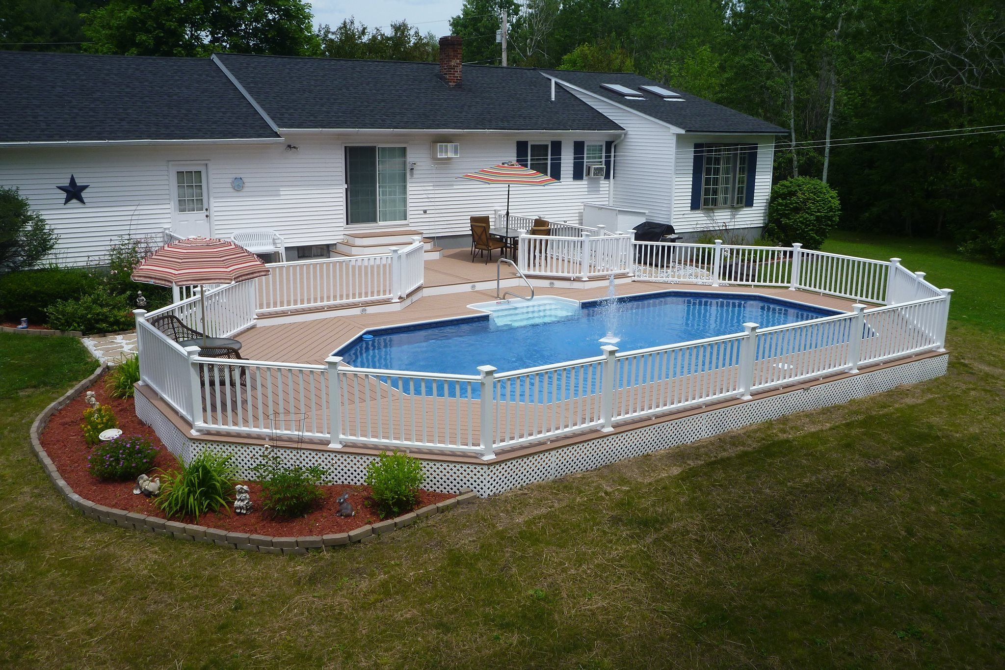 Best ideas about Semi Inground Pool With Deck . Save or Pin Radiant s Keystone Semi Inground pool is the perfect Now.