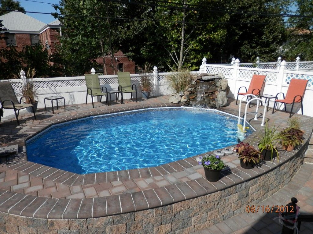 Best ideas about Semi Inground Pool With Deck . Save or Pin semi inground pools with decks Now.