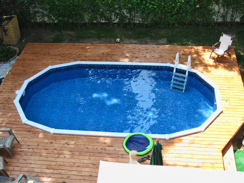 Best ideas about Semi Inground Pool With Deck . Save or Pin Semi Inground Pool Now.