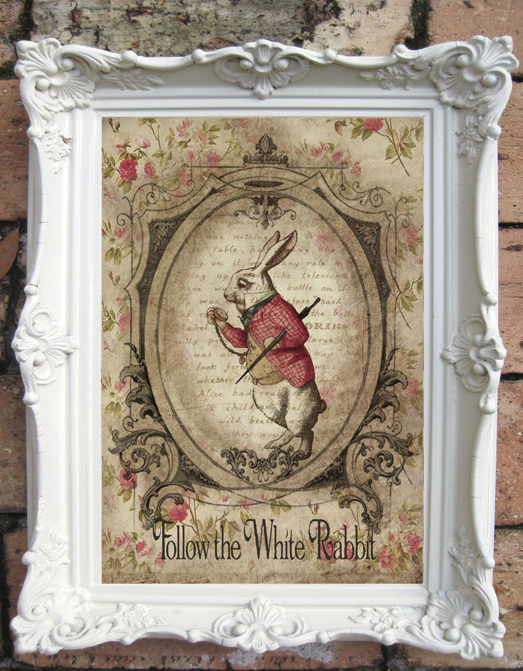 Best ideas about Shabby Chic Art . Save or Pin ALICE in WONDERLAND Shabby Chic Decor Vintage Alice in Now.