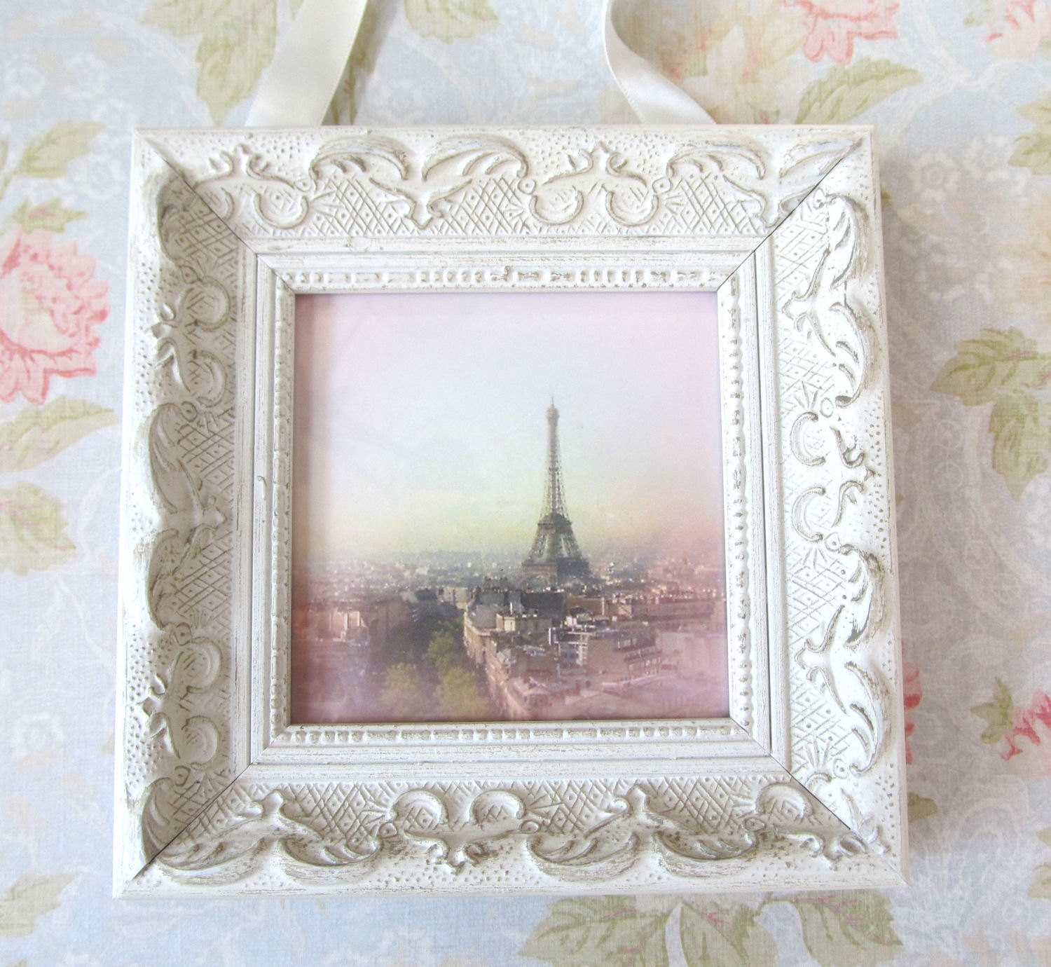 Best ideas about Shabby Chic Art . Save or Pin Pink Paris with Frame Shabby Chic Decor by Now.