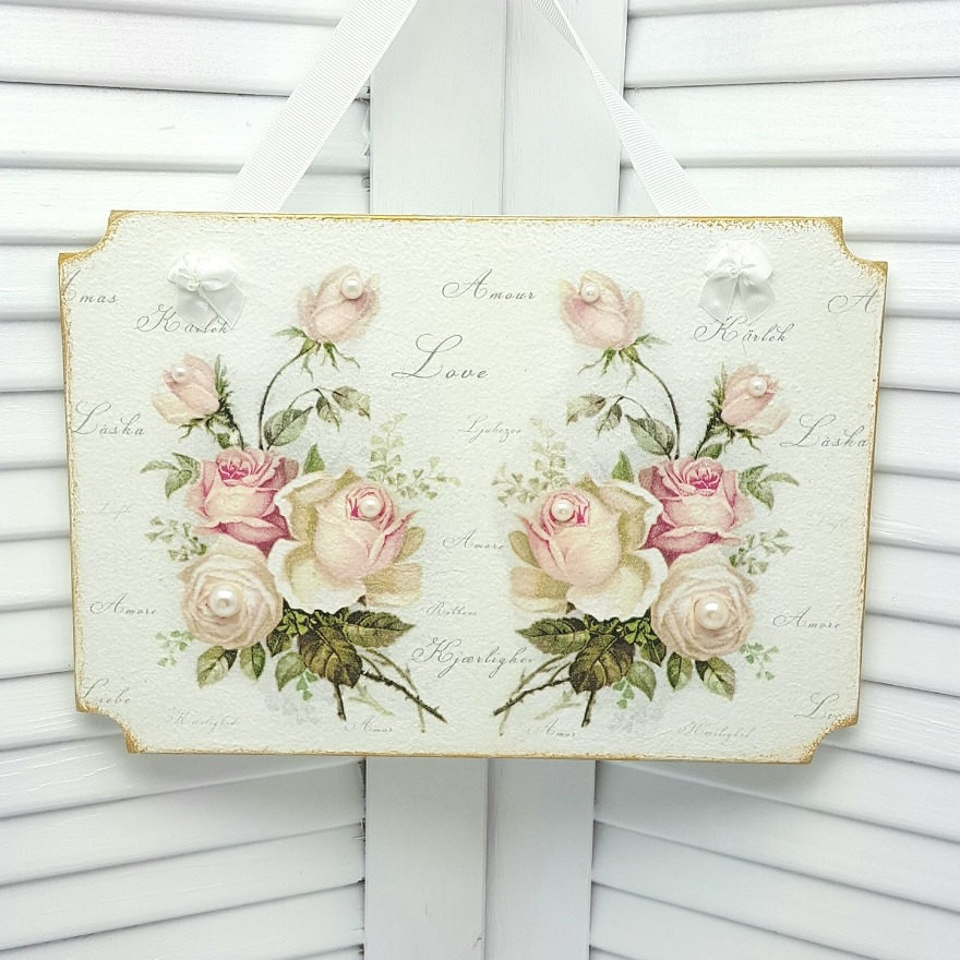 Best ideas about Shabby Chic Art . Save or Pin Cottage Chic Decor Shabby Chic Wall Decor Cottage Decor Now.