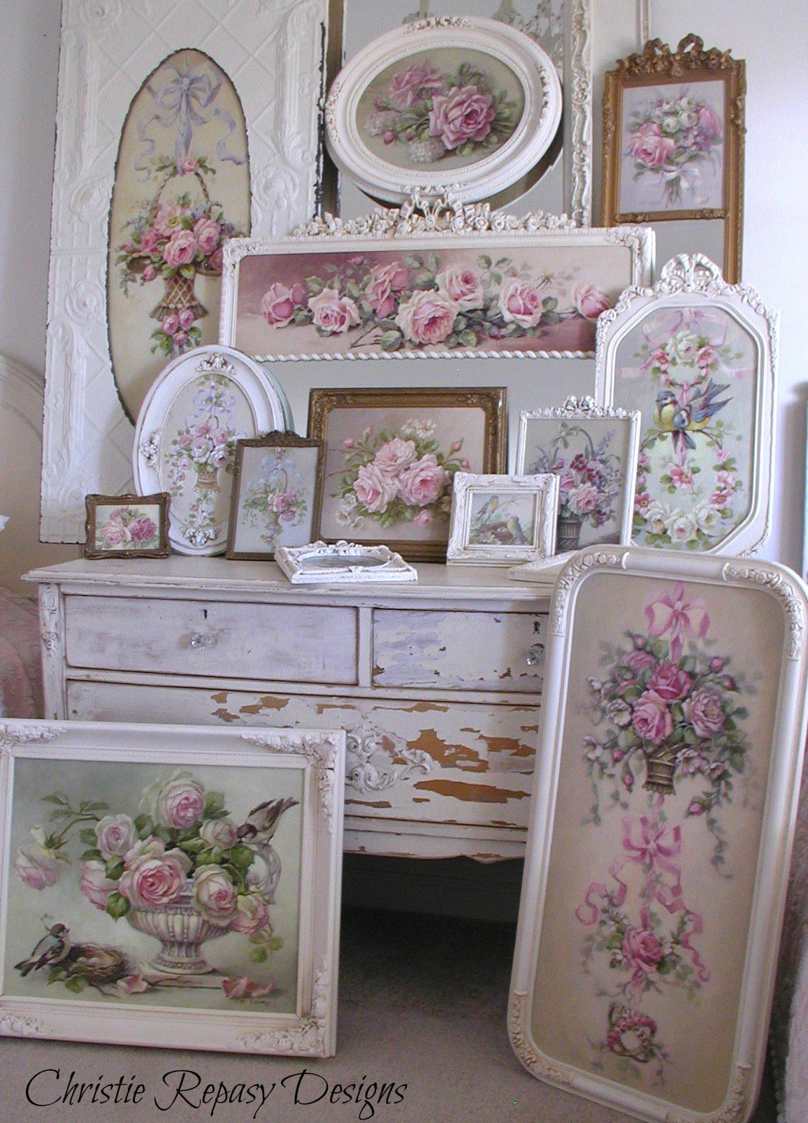 Best ideas about Shabby Chic Art . Save or Pin French framed art for the Dec 5th 7th 2014 TVM Show Now.