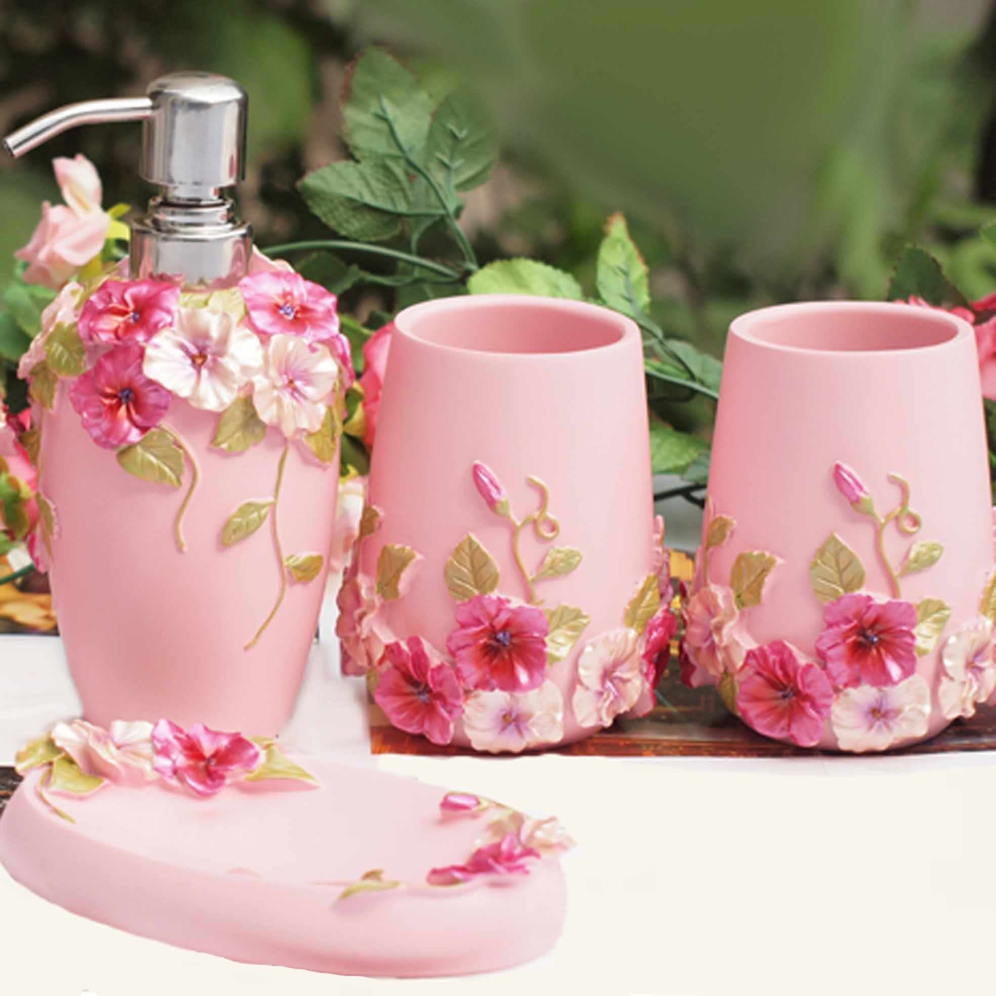 Best ideas about Shabby Chic Bathroom Accesories . Save or Pin shabby chic pink bathroom set Now.