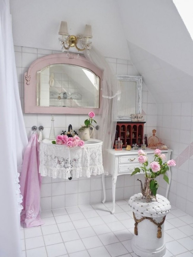Best ideas about Shabby Chic Bathroom Accesories . Save or Pin 25 Stunning Shabby Chic Bathroom Design Inspiration Now.