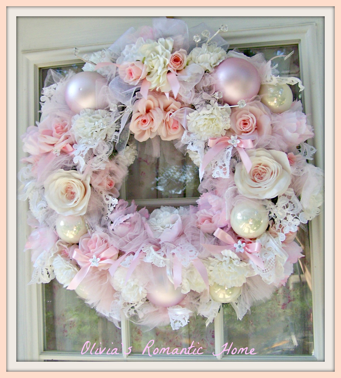 Best ideas about Shabby Chic Christmas . Save or Pin Olivia s Romantic Home Romantic Rose Wreath Now.