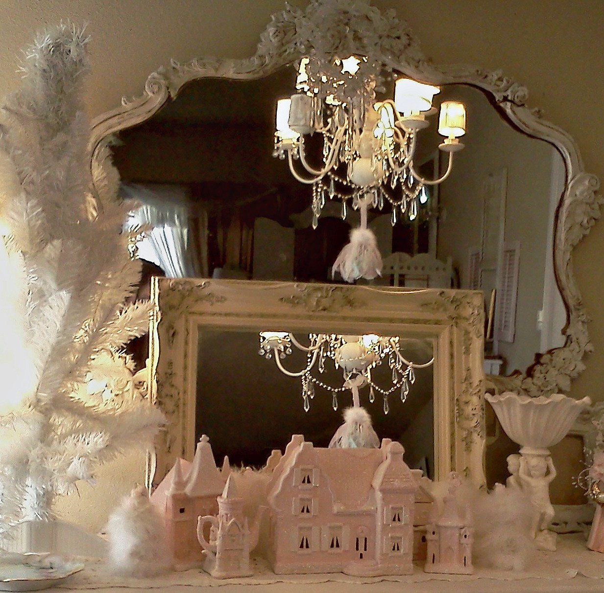 Best ideas about Shabby Chic Christmas . Save or Pin Olivia s Romantic Home Shabby Chic Christmas Village Now.