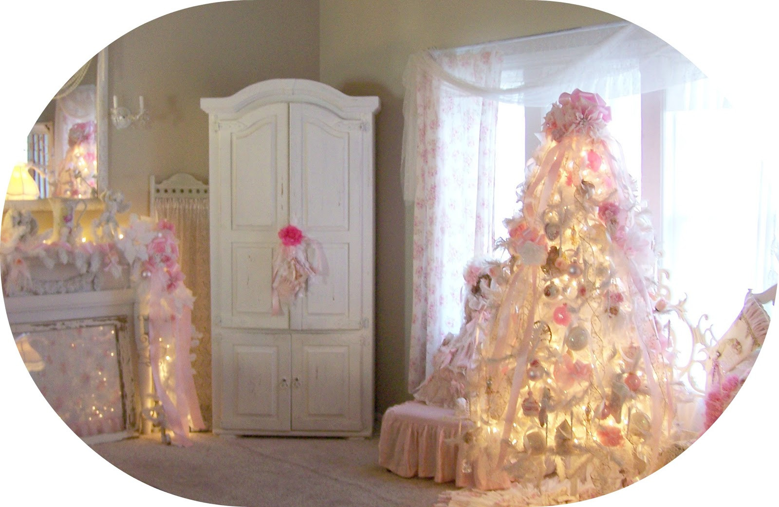 Best ideas about Shabby Chic Christmas . Save or Pin Olivia s Romantic Home My Shabby Chic Pink Christmas Home Now.