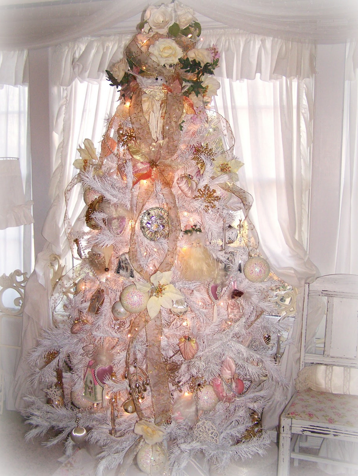 Best ideas about Shabby Chic Christmas . Save or Pin Olivia s Romantic Home Shabby Chic White Christmas Tree Now.