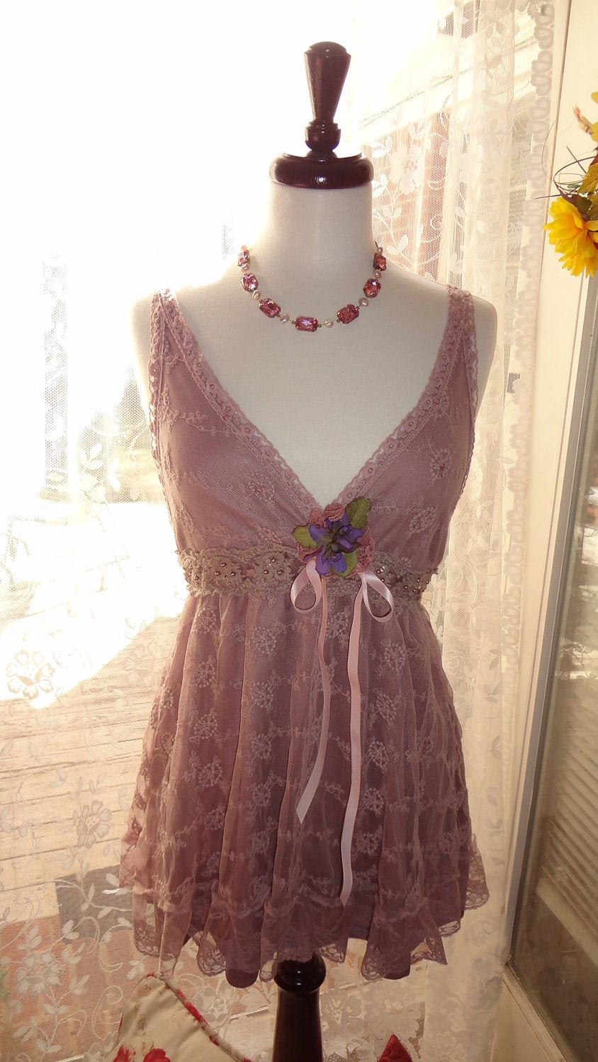 Best ideas about Shabby Chic Clothing . Save or Pin Gypsy Lace Top Boho Chic Mini Dress Romantic Shabby Chic Now.
