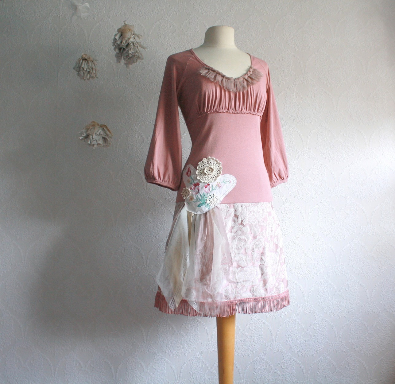 Best ideas about Shabby Chic Clothing . Save or Pin Pink Shabby Chic Dress Upcyced Women s Clothing Dusty Rose Now.