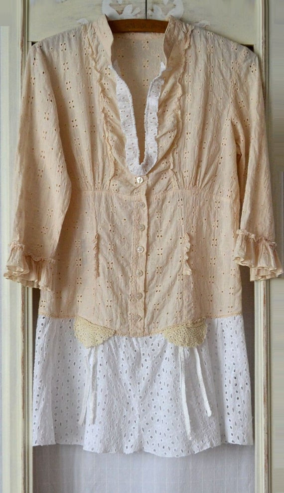 Best ideas about Shabby Chic Clothing . Save or Pin summer dress women upcycled clothing vintage shabby chic Now.