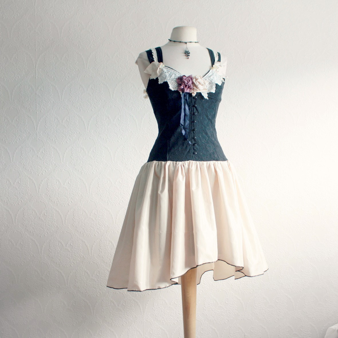 Best ideas about Shabby Chic Clothing . Save or Pin Shabby Chic Clothing Black and Cream Dress Vintage Lace Now.