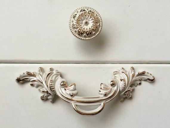 Best ideas about Shabby Chic Drawer Pull . Save or Pin 2 5 Shabby Chic Dresser Knobs Pulls Drawer Pull by Now.