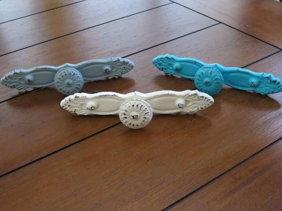 Best ideas about Shabby Chic Drawer Pull . Save or Pin Shabby Chic Drawer Pulls Dresser Knobs Creamy White Light Now.