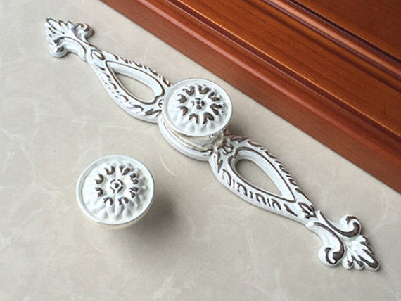 Best ideas about Shabby Chic Drawer Pull . Save or Pin Shabby Chic Drawer Pulls Handles Knob Dresser Knobs Cabinet Now.
