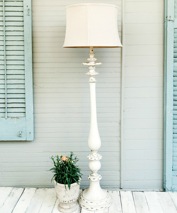 Best ideas about Shabby Chic Floor Lamp . Save or Pin TALL Shabby Chic Floor Lamp Now.