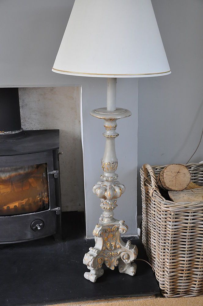 Best ideas about Shabby Chic Floor Lamp . Save or Pin 9 best images about Shabby chic lamps on Pinterest Now.