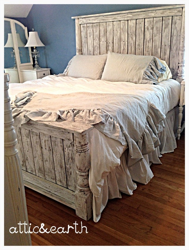 Best ideas about Shabby Chic Headboard . Save or Pin Shabby Chic handmade headboard footboard Now.