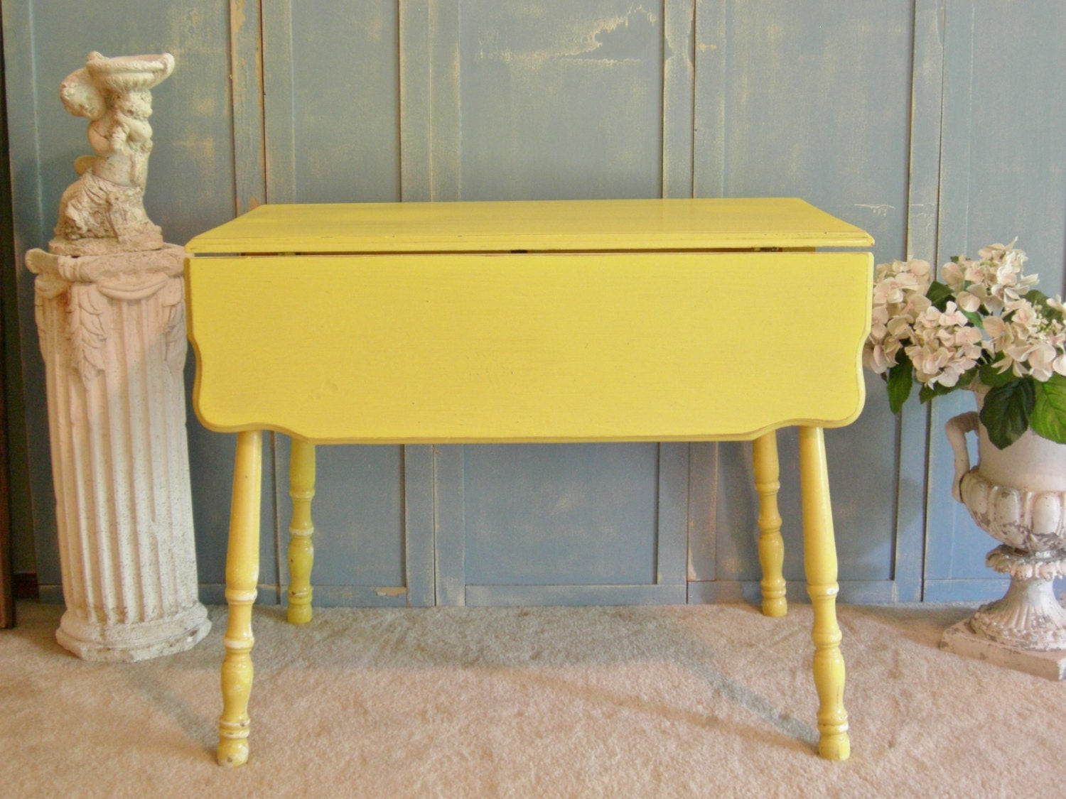 Best ideas about Shabby Chic Kitchen Table . Save or Pin DROP LEAF Kitchen Table Shabby Chic Kitchen Island Entry Now.