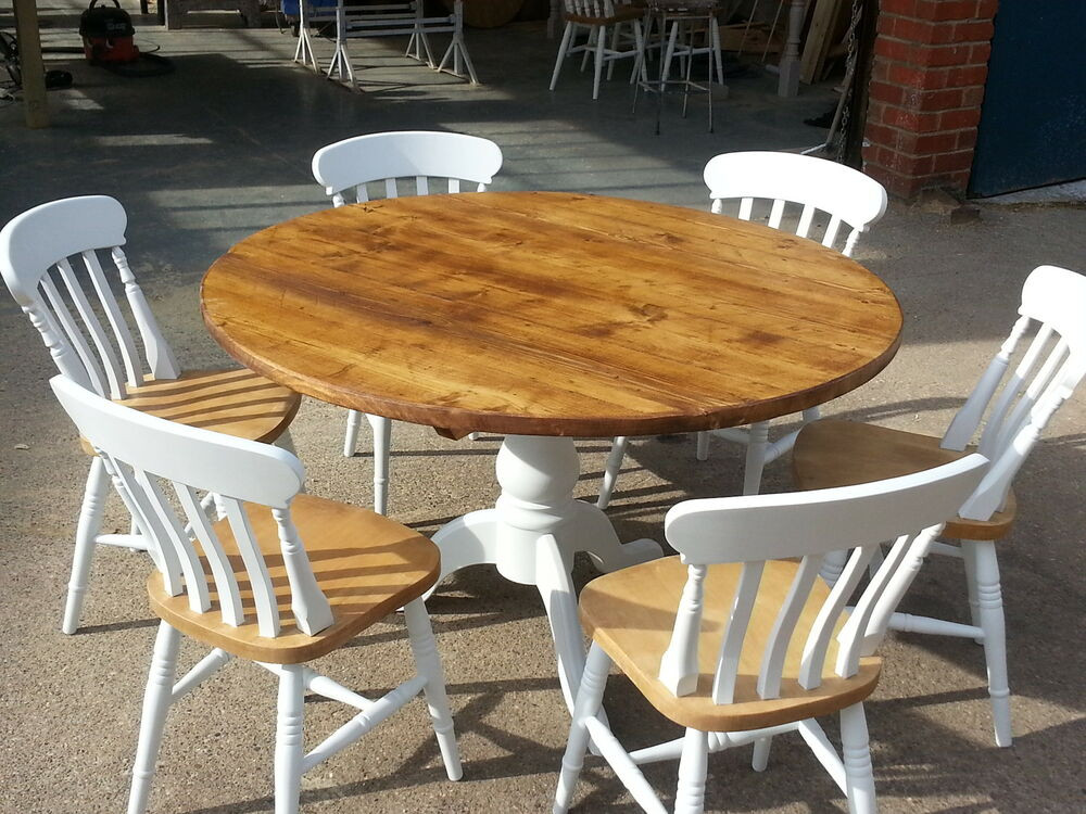 Best ideas about Shabby Chic Kitchen Table . Save or Pin Painted shabby chic reclaimed round Farmhouse Kitchen Now.