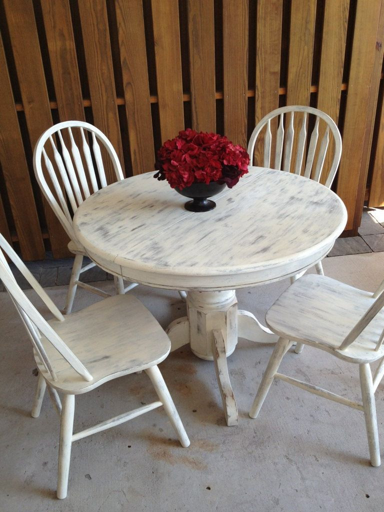 Best ideas about Shabby Chic Kitchen Table . Save or Pin Shabby Chic White Dining Table Shabby chic Now.