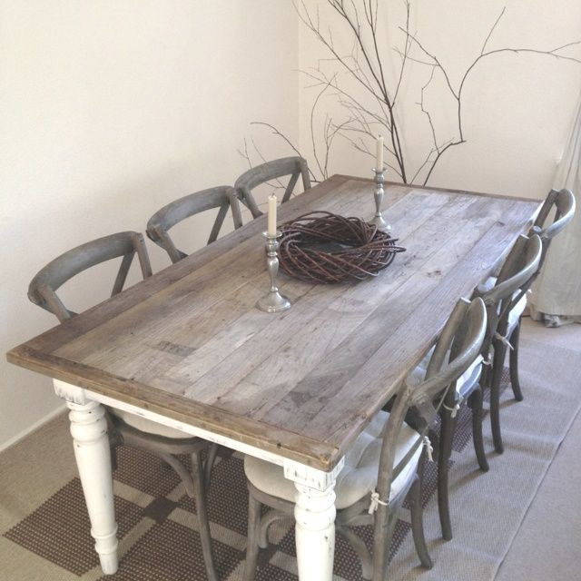 Best ideas about Shabby Chic Kitchen Table . Save or Pin 6 Seats Dark Brown Shabby Chic Kitchen Table Set Now.