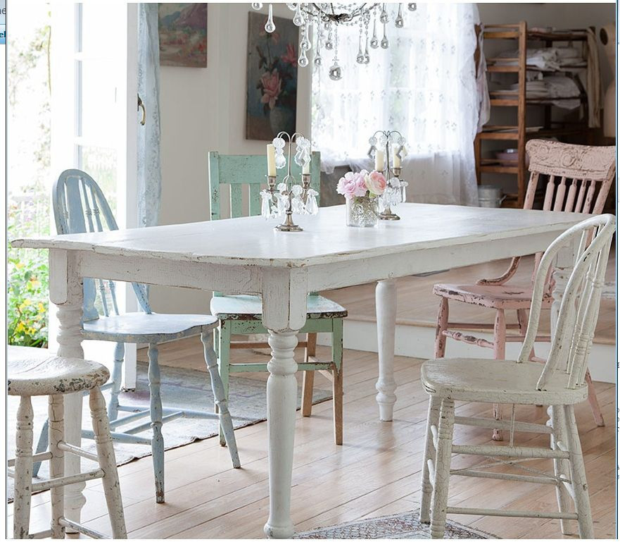 Best ideas about Shabby Chic Kitchen Table . Save or Pin Shabby Chic Kitchen table Kitchen options Now.