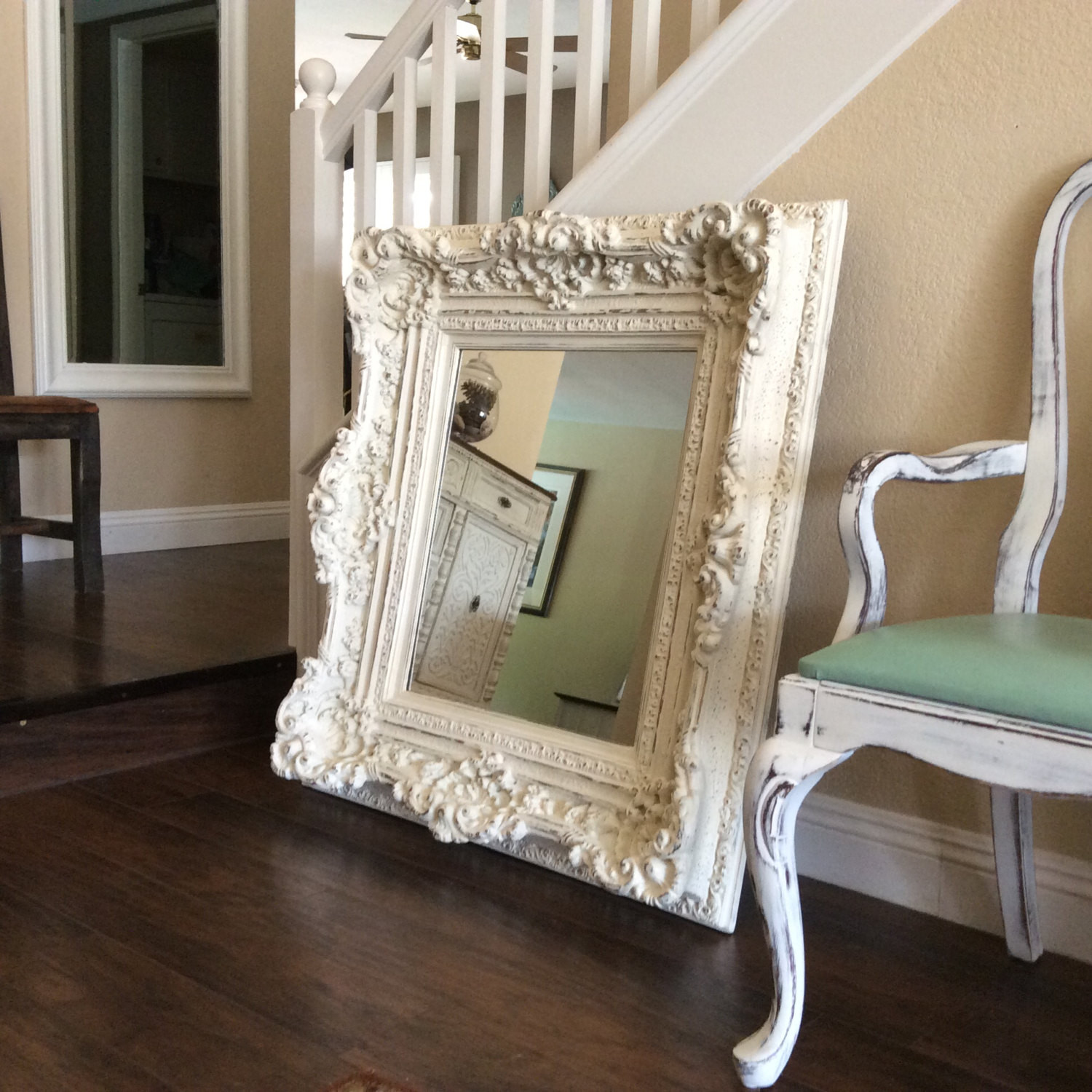 Best ideas about Shabby Chic Mirror . Save or Pin Fabulous LARGE WHITE MIRROR Shabby Chic Mirror Cottage Chic Now.
