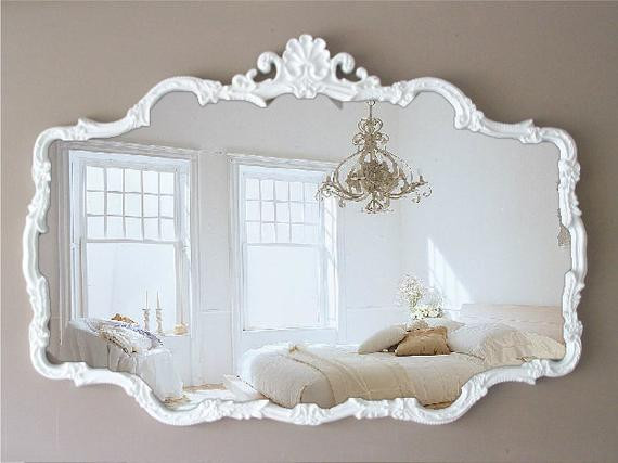 Best ideas about Shabby Chic Mirror . Save or Pin H U G E Vintage Cottage Chic Mirror Shabby Chic French Now.