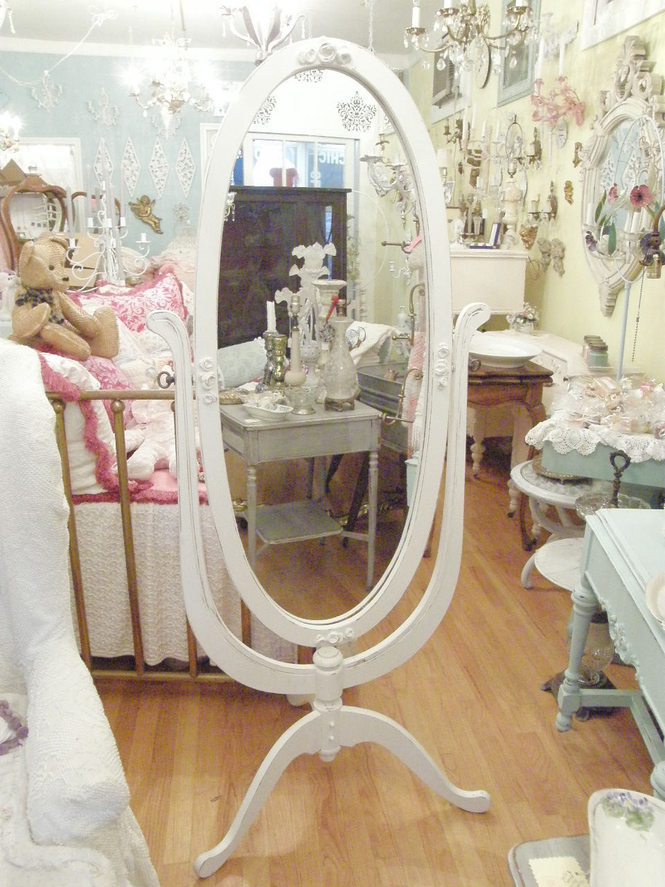 Best ideas about Shabby Chic Mirror . Save or Pin shabby chic mirror Cheval standing floor by Now.
