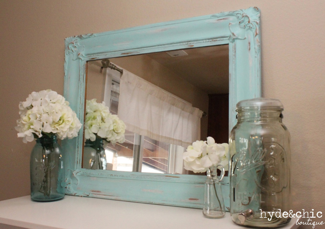 Best ideas about Shabby Chic Mirror . Save or Pin Shabby Chic Decor Distressed Mirror Baker City Now.