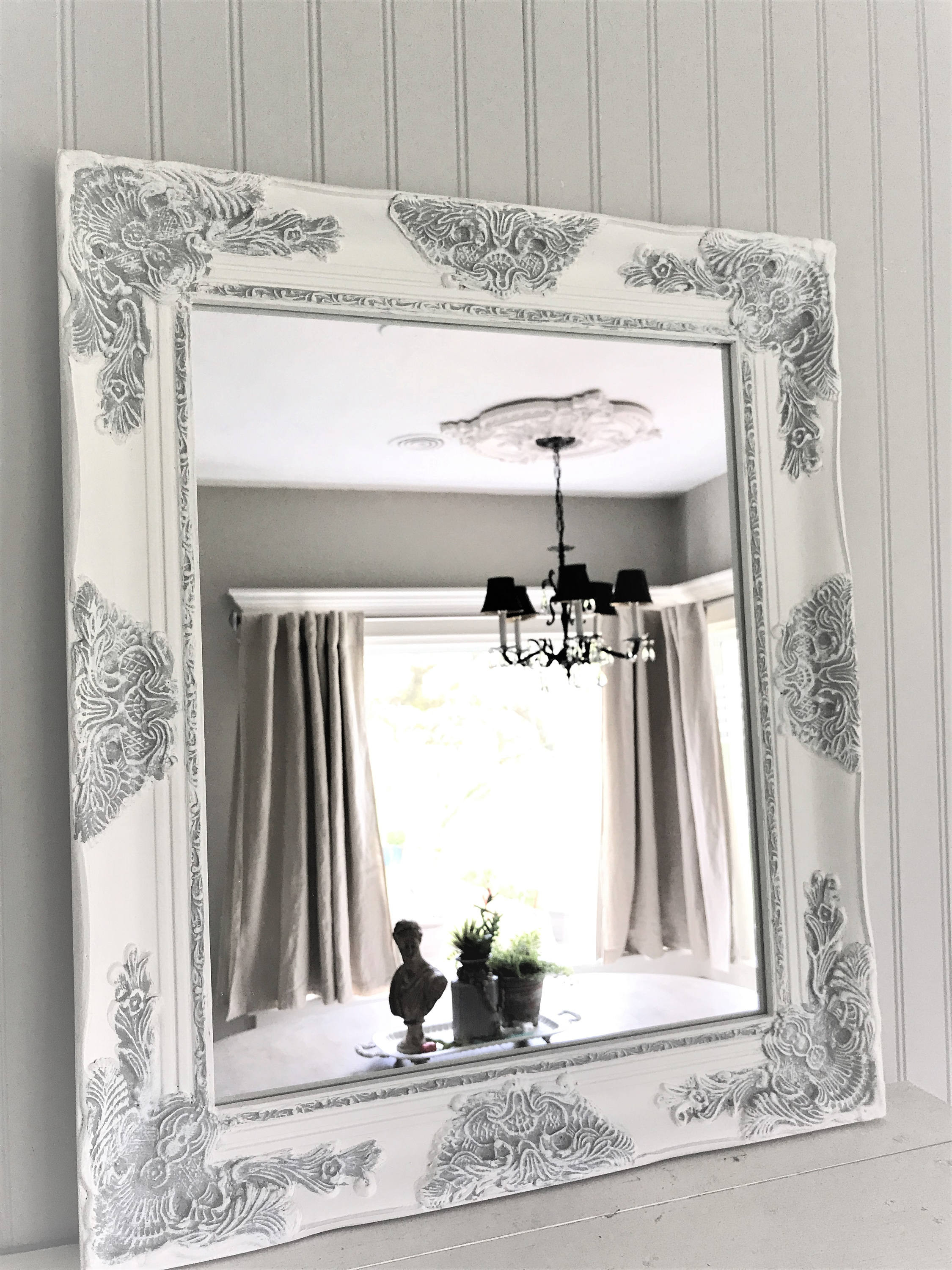 Best ideas about Shabby Chic Mirror . Save or Pin Shabby Chic Mirror Mirror Bathroom Mirror Vanity Now.