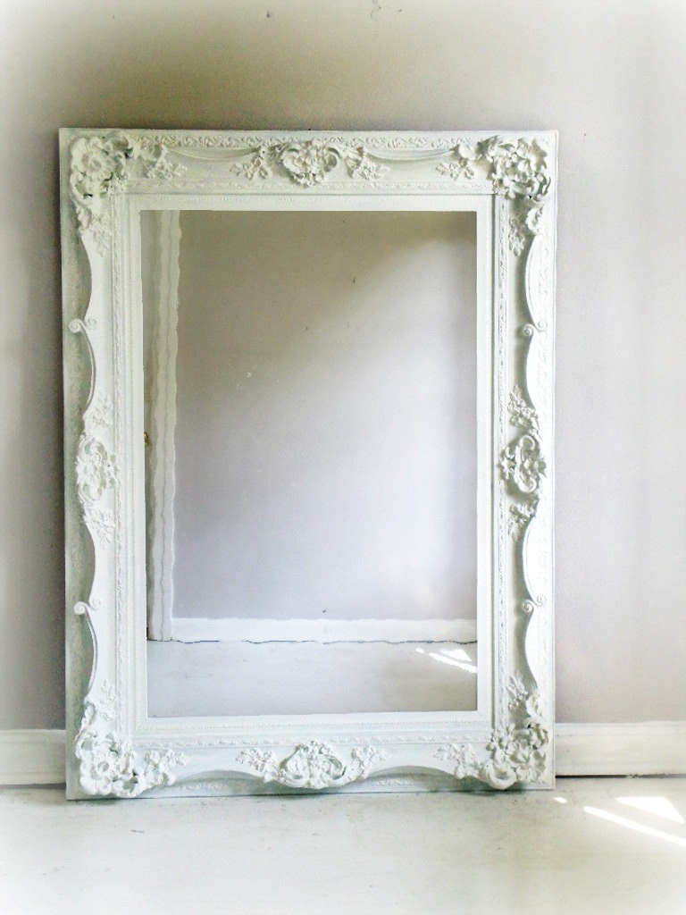 Best ideas about Shabby Chic Mirror . Save or Pin H U G E Ornate White Mirror Shabby Chic by smallVintageAffair Now.