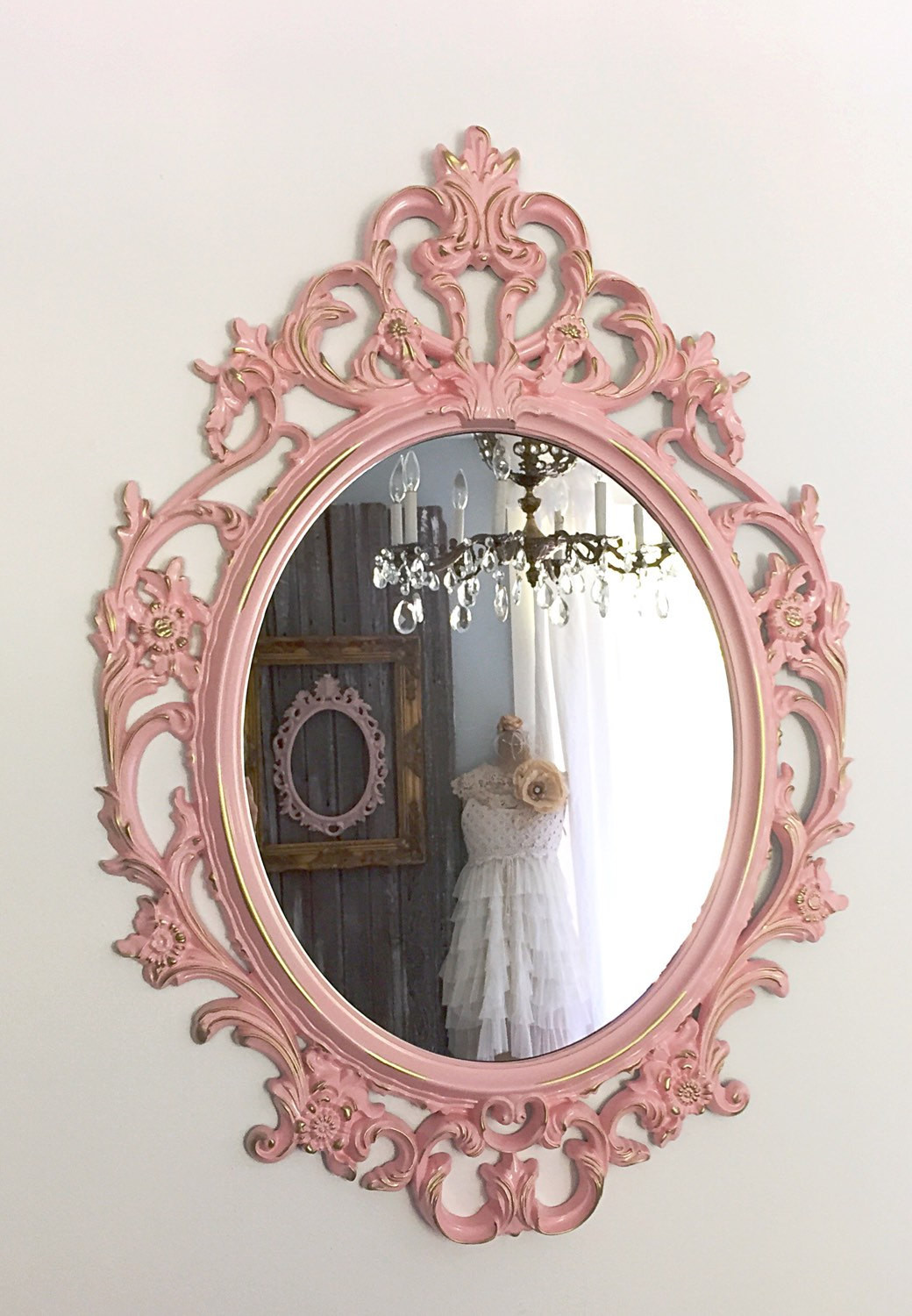 Best ideas about Shabby Chic Mirror . Save or Pin Shabby Chic Mirror Wall Mirror Nursery Mirror by FarmHouseFare Now.