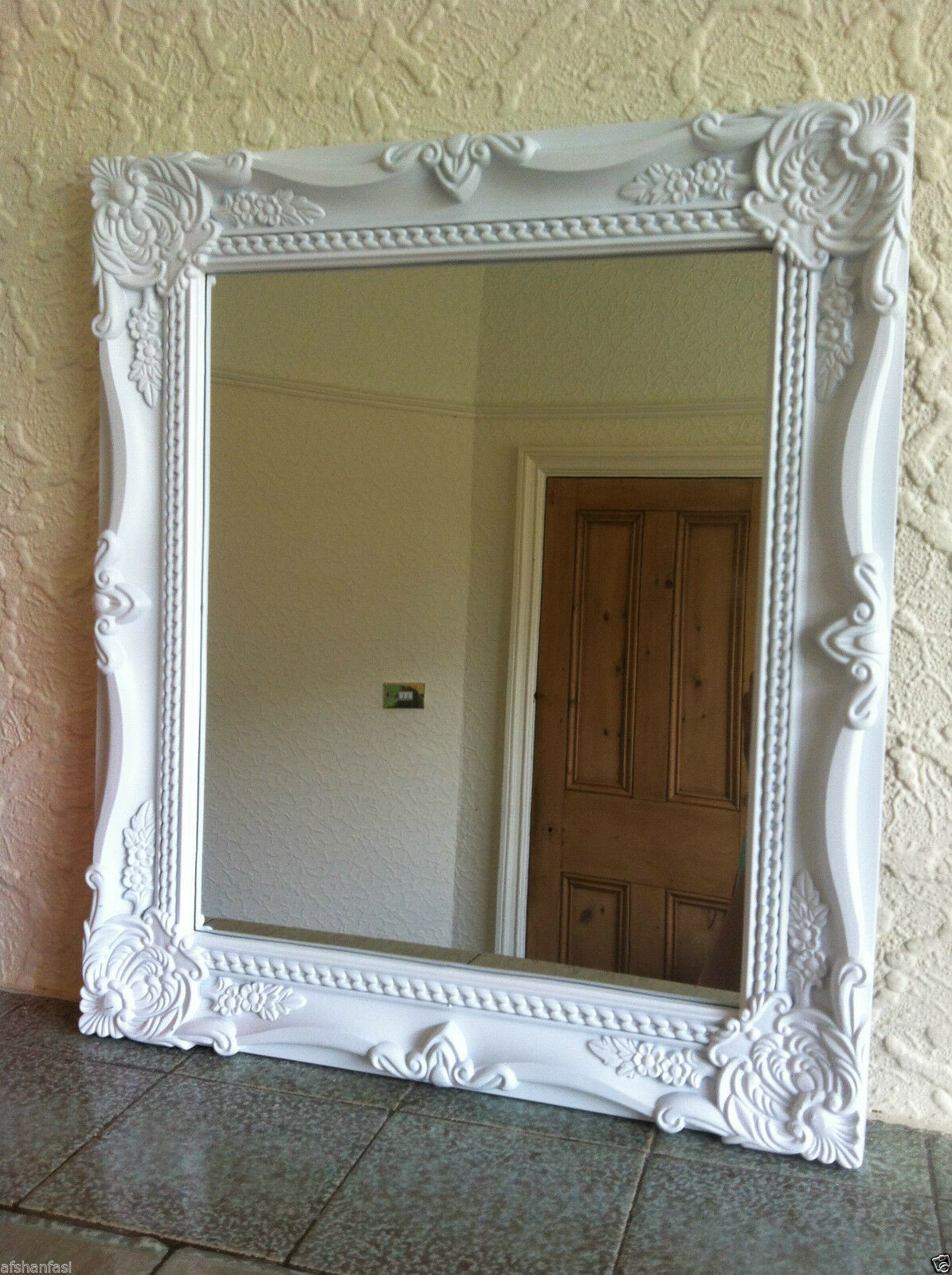 Best ideas about Shabby Chic Mirror . Save or Pin SHABBY CHIC ORNATE BATHROOM WALL MIRROR BLACK WHITE RESIN Now.