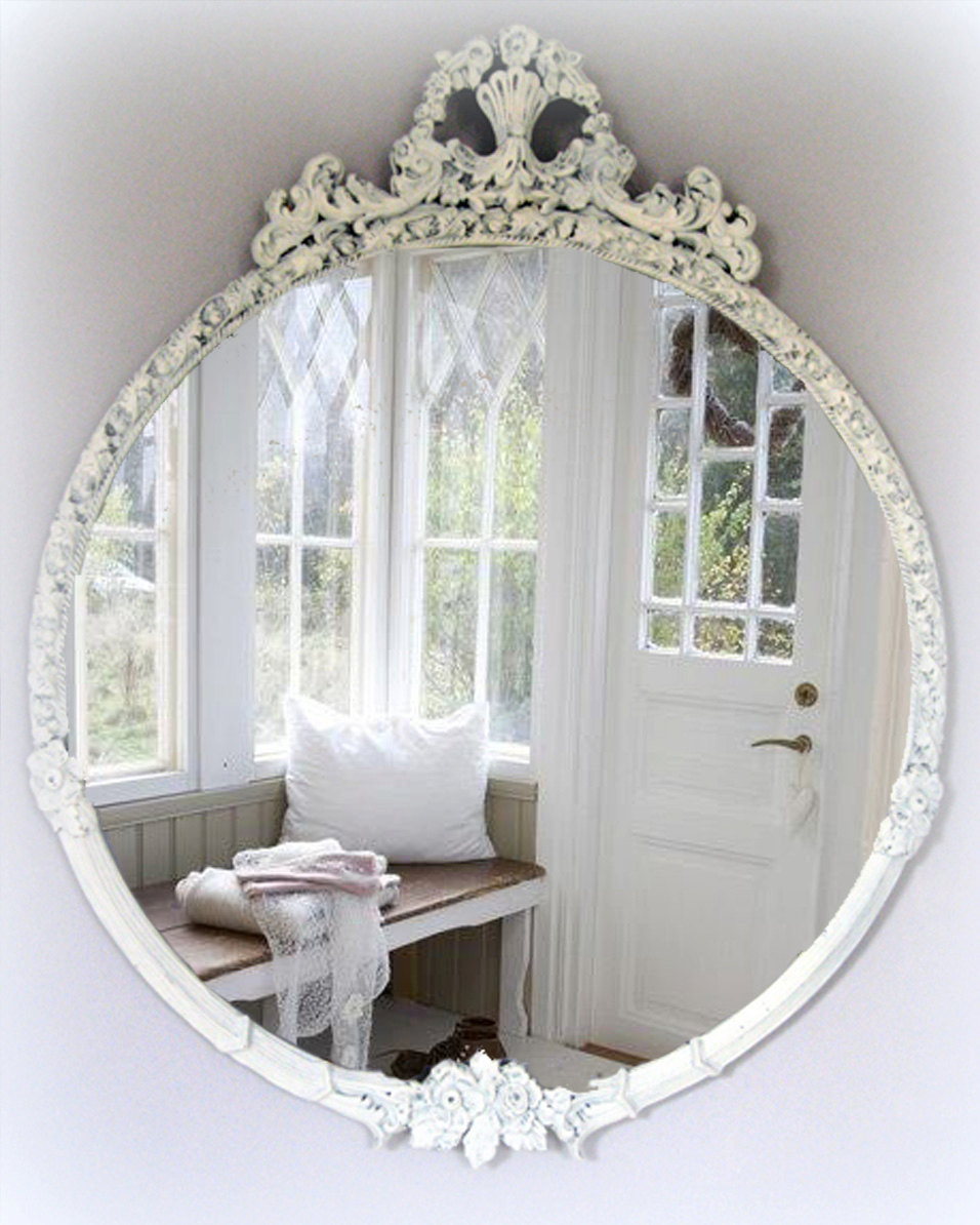 Best ideas about Shabby Chic Mirror . Save or Pin Vintage Shabby Chic Mirror Cottage Chic French Country Now.
