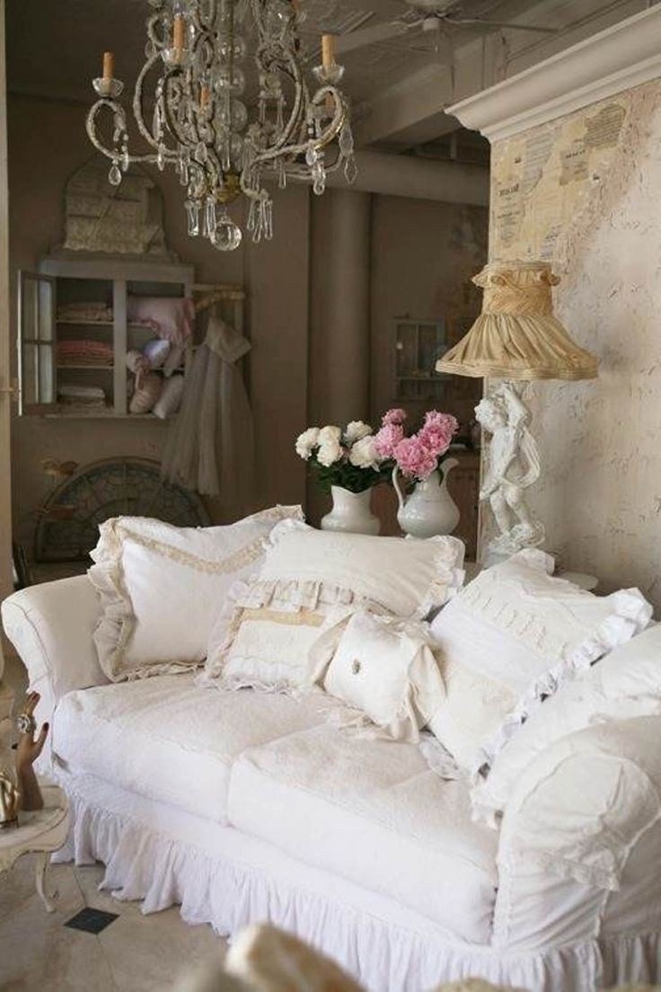 Best ideas about Shabby Chic Style . Save or Pin French Shabby Chic Style Living Room Design Now.