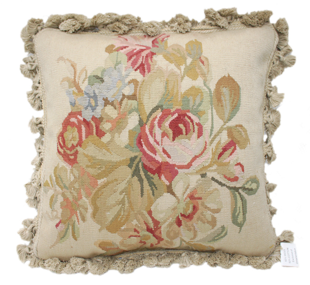 """Best ideas about Shabby Chic Throw Pillows . Save or Pin 16"""" Chic Shabby French Aubusson Pink Red Roses Daisy Now."""