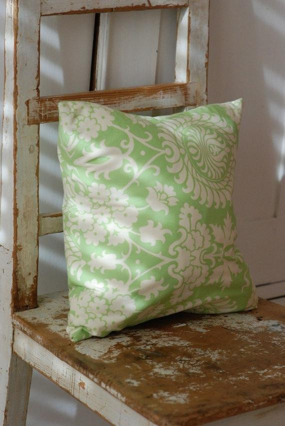 Best ideas about Shabby Chic Throw Pillows . Save or Pin Decorative Throw Shabby Chic Pillow Cover 14 x 14 Green Now.