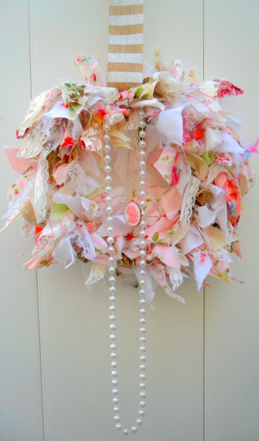 Best ideas about Shabby Chic Wreath . Save or Pin Shabby chic wreath rag wreath fabric wreath pink decor Now.