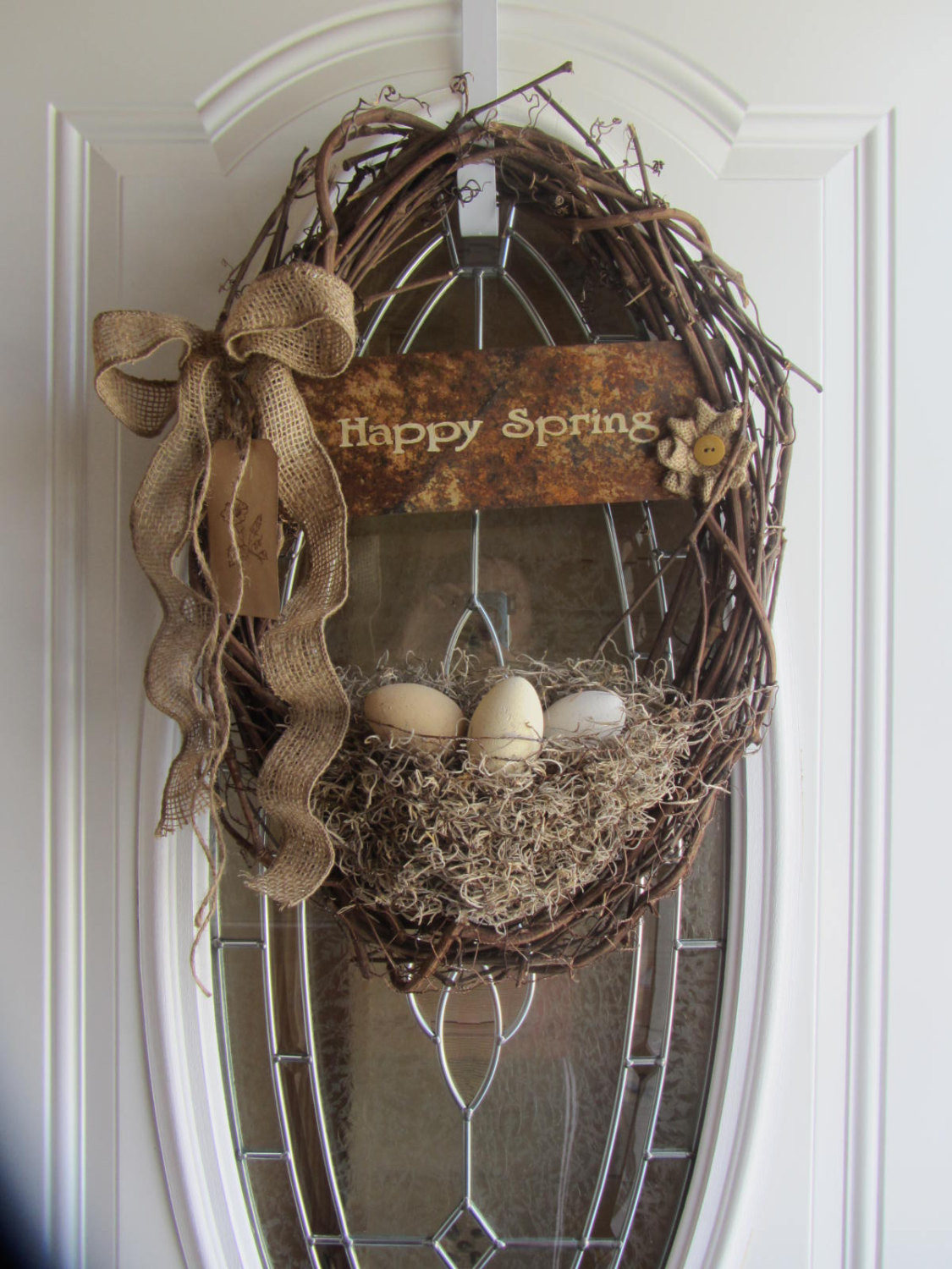Best ideas about Shabby Chic Wreath . Save or Pin Easter Wreath Easter Door Decor Shabby Chic Wreath Now.
