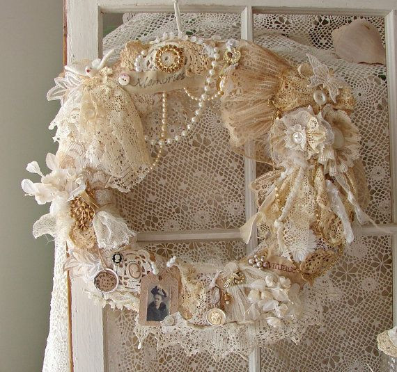 Best ideas about Shabby Chic Wreath . Save or Pin 22 Versatile Shabby Chic Christmas Wreaths That Can Be Now.