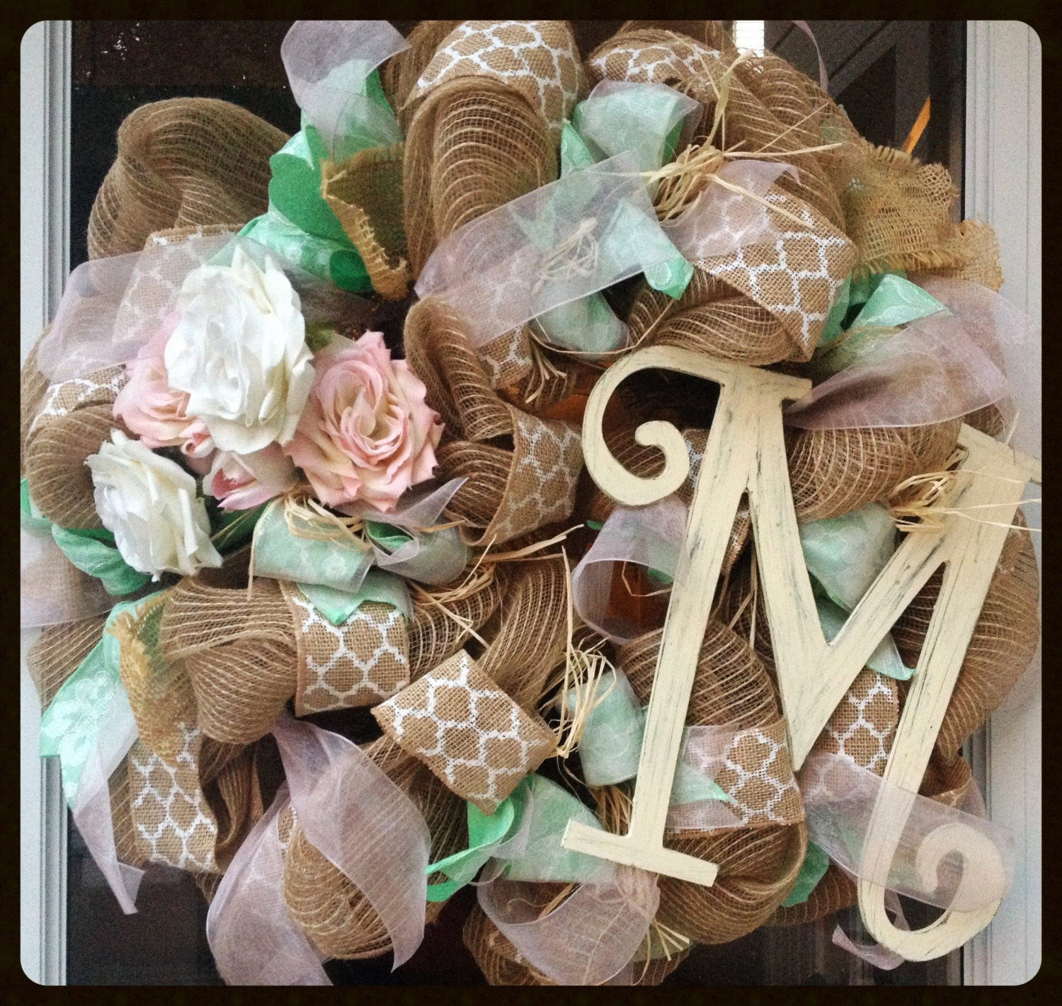 Best ideas about Shabby Chic Wreath . Save or Pin Shabby Chic Wreath Burlap Wreath Floral Wreath Wedding Now.