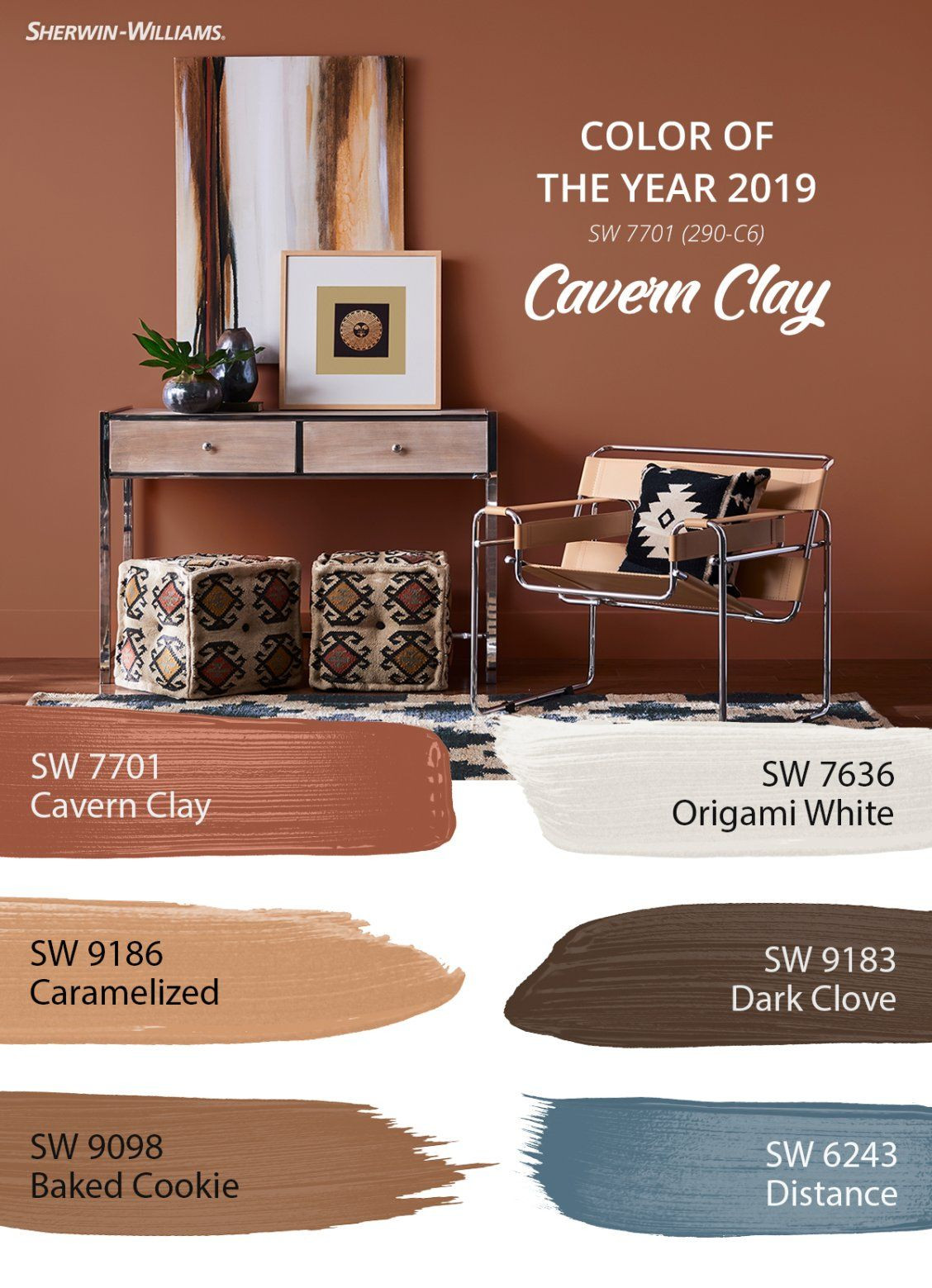 Best ideas about Sherwin Williams Paint Colors 2019 . Save or Pin Hidden among the Wanderer palette is the 2019 Color of the Now.