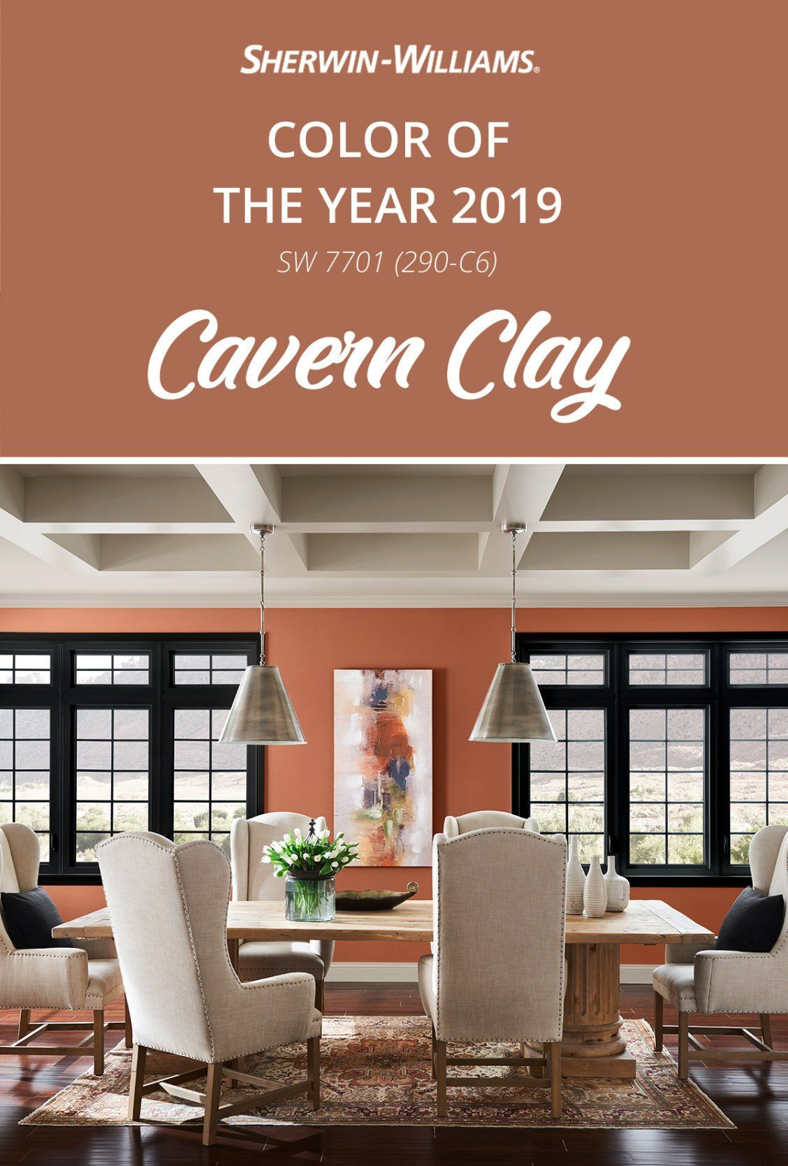 Best ideas about Sherwin Williams Paint Colors 2019 . Save or Pin Modern décor pairs perfectly with Cavern Clay SW 7701 the Now.
