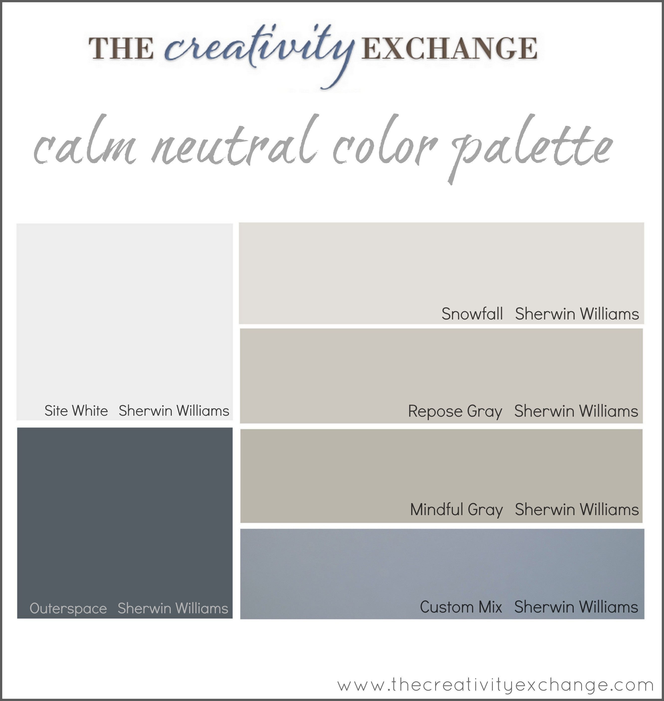 Best ideas about Sherwin-Williams Paint Colors . Save or Pin fice Craft Room Paint Color Palette Paint It Monday Now.
