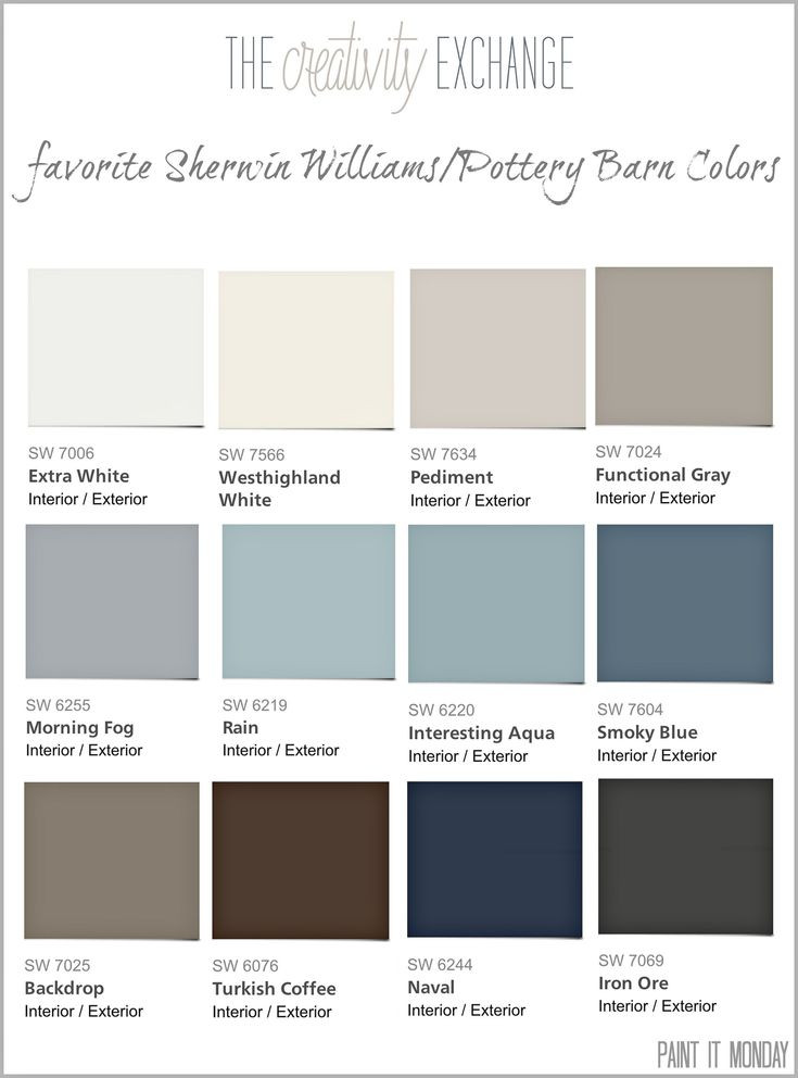 Best ideas about Sherwin-Williams Paint Colors . Save or Pin Favorite Pottery Barn Paint Colors 2014 Collection Paint Now.